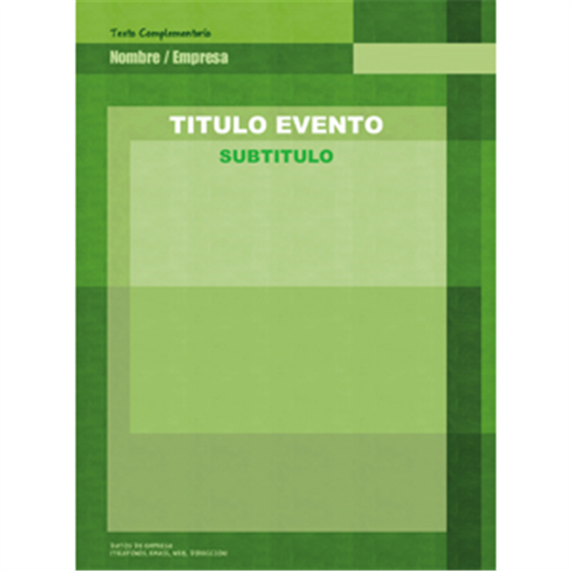 Diseño online gratis de cartel A3 agricultura verde - Printadera