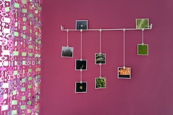 Decorar pared con fotos cuadradas