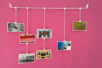 Decorar pared con fotos 10x15
